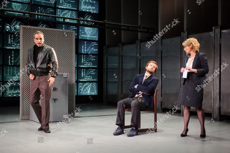 Gerald Kyd (Ridley), Nick Blakely (Maggs), Lisa Dillon (Hapgood).