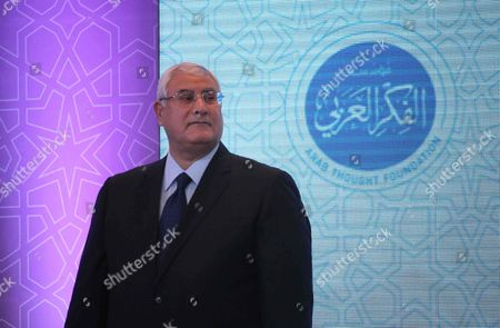Stock Image of Interim President Adly Mansour