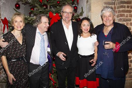 Amelia Bullmore (MrsCratchit), Phelim McDermott (Director), Jim Broadbent (Ebenezer Scrooge), Samantha Spiro (Mrs Lack) and Patrick Barlow (Adaptation)