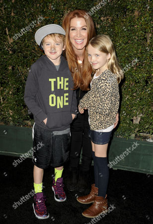Stock Picture of Poppy Montgomery and children Jackson Phillip Deveraux Montgomery Kaufman and Violet Grace Deveraux Sanford