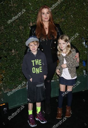 Stock Photo of Poppy Montgomery and children Jackson Phillip Deveraux Montgomery Kaufman and Violet Grace Deveraux Sanford