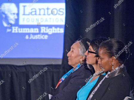 Laureates Rebiya Kadeer, Irsahd Manji, and Ayaan Hirsi Ali are awarded the 2015 Lantos Human Rights Prize, the highest honor of the Lantos Foundation for Human Rights and Justice at a ceremony on Capitol Hill