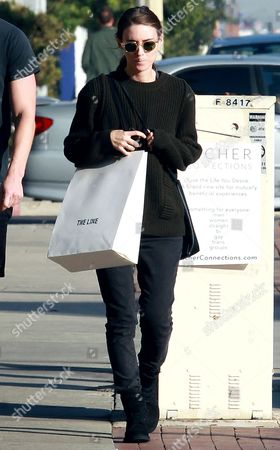 Editorial image of Rooney Mara and Ryan Hastings out and about, Los Angeles, America - 09 Dec 2015