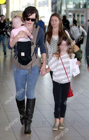 Milla Jovovich with daughters Dashiel Edan Anderson and Ever Gabo