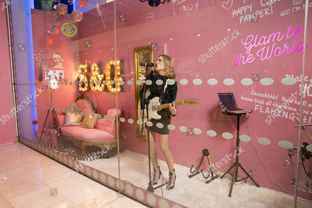 Editorial picture of Soap & Glory launches its immersive beauty boudoir with Florrie Arnold in the window of Boots Westfield, London, Britain - 10 Dec 2015