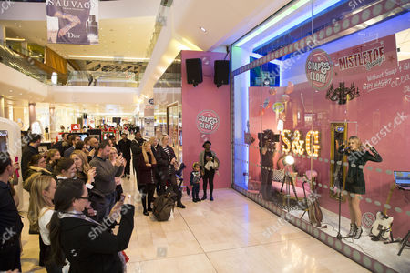 Editorial image of Soap & Glory launches its immersive beauty boudoir with Florrie Arnold in the window of Boots Westfield, London, Britain - 10 Dec 2015