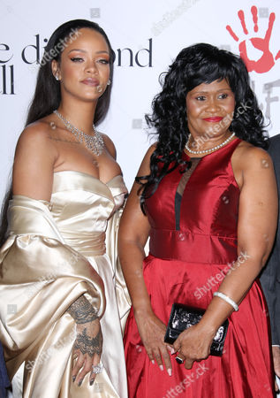 Rihanna with her mother Monica Fenty