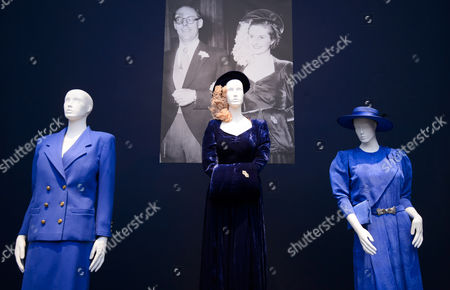 A Midnight Blue Wedding Esemble by Constance Gowns - £10,000 - £15,000