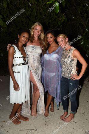 Naomie Harris, Jodie Kidd, Nicole Sherzinger and Kay Scherzinger