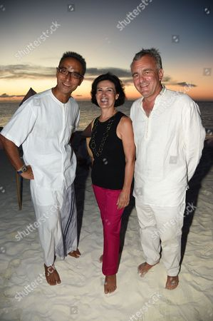 Stock Picture of Sonu Shivdasani, Paloma Picasso and Eric Thevenet