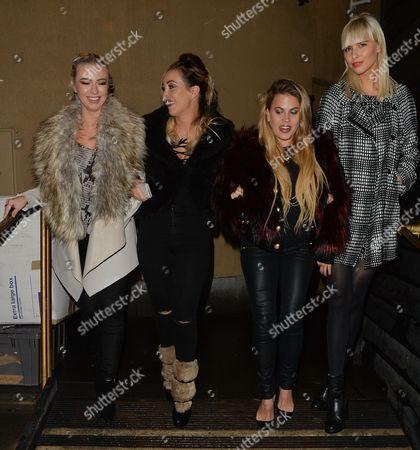 Megan Rees, Lauryn Goodman, Nadia Forde and Guest