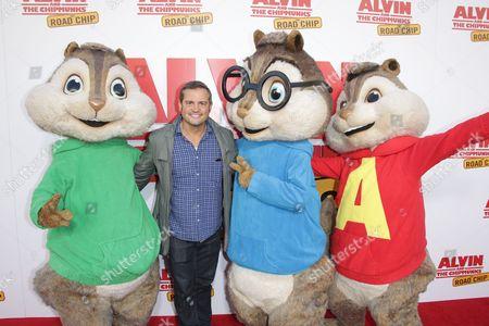 Walt Becker with The Chipmunks