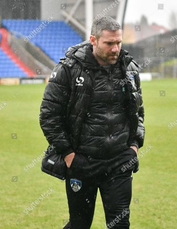 Oldham Athletic Manager, David Dunn before the Sky Bet League 1 match between Oldham Athletic and Millwall at Boundary Park, Oldham
