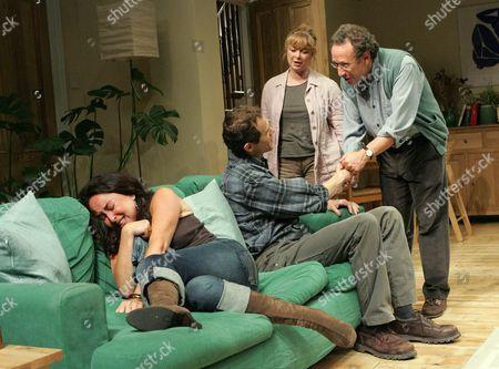 'Two Thousand Years' - Samantha Spiro ( Michelle ), Adam Godley ( Jonathan ), Caroline Gruber (Rachel ), Allan Corduner ( Danny )