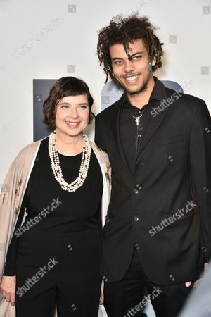 Isabella Rossellini and son Roberto Rossellini