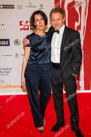 Stock Image of Axel Pape and wife Gioia Raspe