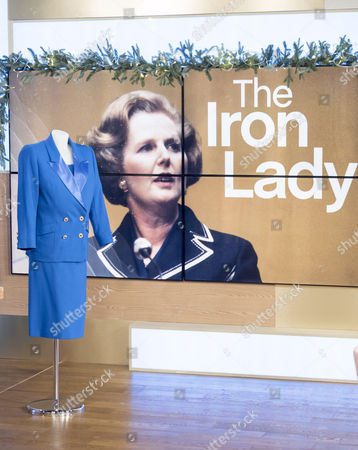 Items that belonged to Baroness Margaret Thatcher - blue suit