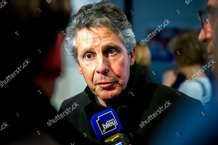 Mayor of Beaune Alain Suguenot at the Campaign headquarters  during the results of the second round of the French regional election 2015 in the Bourgogne France conte region