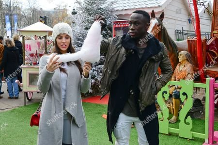 Editorial photo of Bakary Sagna and Ludivine Kadri out and about, Paris, France - 13 Dec 2015