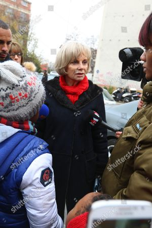 Elisabeth Guigou at the scene of the attack at Jean Perrin school in Aubervilliers