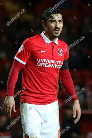 Reza Ghoochannejhad of Charlton during Charlton Athletic vs Bolton Wanderers at The Valley