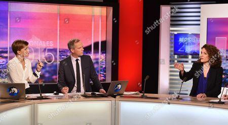 Editorial image of Regional Election second tour on LCI, Paris, France - 14 Dec 2015