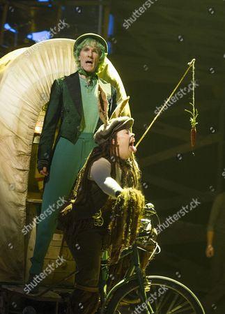 Simon Paisley Day as Once-ler, Emily Houghton as Donkey,