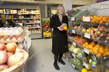 Rosie Boycott Chair Of The London Food Board At The Opening Of London's First Community Shop In West Norwood South London.