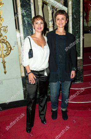 French actresses Delphine Zentout and Juliette Croizat