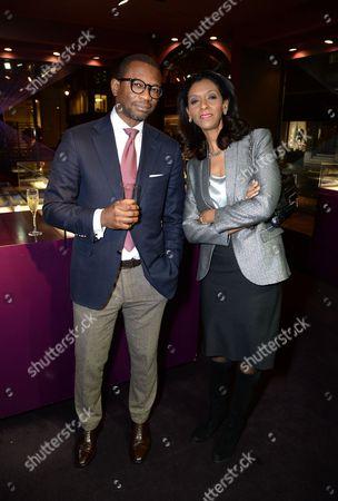 Henry Obi and Zeinab Badawi