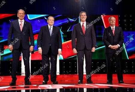 George Pataki, Mike Huckabee, Rick Santorum and Lindsey Graham