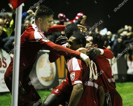 Whitehawk's Danny Mills celebrates his goal