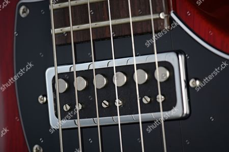 Detail Of The Prs Type-d Pickup On A Prs S2 Vela Electric Guitar
