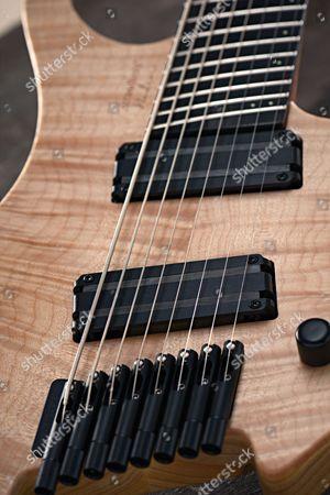 Detail Of A Strandberg Boden 8 8-string Electric Guitar