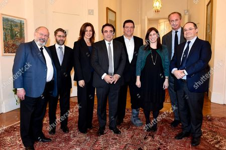 Ambassador of Israel in France Aliza Bin Noun, Deputy Foreign Minister Tzipi Hotovely and Chiefs of the Jewish French Community