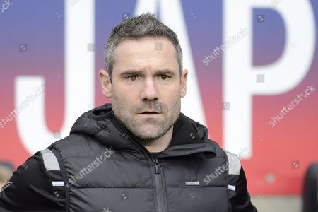 Oldham Athletic manager David Dunn  during the Sky Bet League 1 match between Coventry City and Oldham Athletic at the Ricoh Arena, Coventry