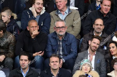 Stock Photo of Frank Lampard snr (C wearing glasses) watching the game today ahead of his son Frank's wedding tomorrow to Christine Bleakley.