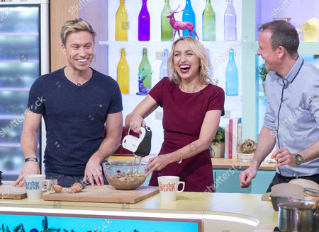 Russell Howard and Kerry Howard with Tim Lovejoy
