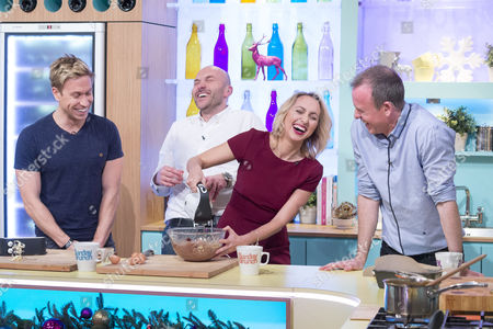 Russell Howard and Kerry Howard with Tim Lovejoy and Simon Rimmer