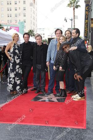 Quentin Tarantino, Tim Roth, Zoe Bell, Samuel L. Jackson, Walton Goggins, Demian Bichir, James Parks and Jennifer Jason Leigh