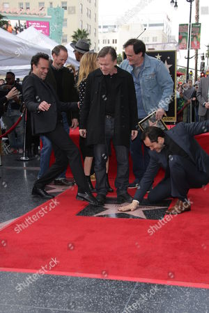 Stock Picture of Quentin Tarantino, Tim Roth, Zoe Bell, Samuel L. Jackson, Walton Goggins, Demian Bichir, James Parks and Jennifer Jason Leigh
