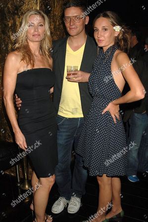 Stock Image of KELLY EMBERG, GILES DEACON AND DAUGHTER RUBY