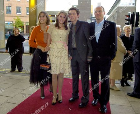 Kirsty Wark with her children Caitlynn and James and husband Alan Clements