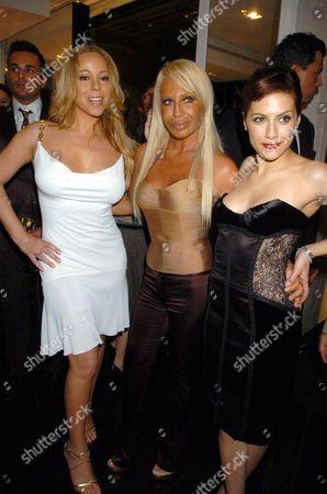 Mariah Carey, Donatella Versace and Brittany Murphy