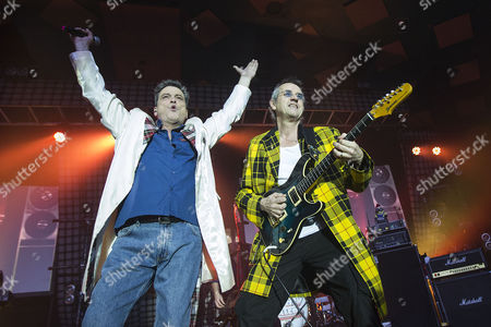 Stock Image of Les McKeown - The Bay City Rollers and guitarist Stuart John Wood - The Bay City Rollers