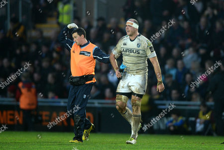 Lou Reed of Cardiff Blues leaves the field.
