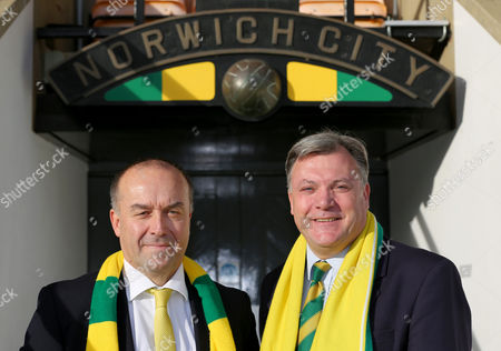 Ex Shadow Chancellor Ed Balls, announced at a Press Conference this morning as the new Chairman of Norwich City Football Club with Norwich City chief executive, David McNally