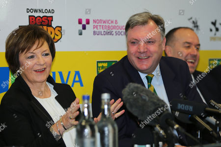 Ex Shadow Chancellor Ed Balls, announced at a Press Conference this morning as the new Chairman of Norwich City Football Club Joint majority shareholder of Norwich City, Delia Smith CBE and Norwich City chief executive, David McNally