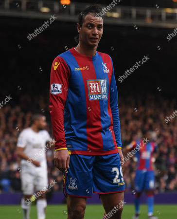 Marouane Chamakh in action on his return during the Barclays Premier League match between Crystal Palace and Swansea City at Selhurst Park, London