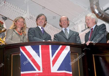 Franziska Meinl, Julius Meinl and The Duke of Kent at the Meinl department store